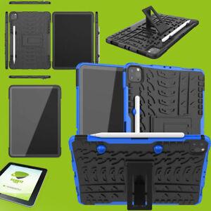 Für Apple iPad Pro 11.0 2021 Hybrid Etuis Blau Hülle Tablet Tasche + H9 Glas Neu