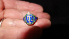 Original Auxiliary Territorial Service silver ring with enamel ( A1)
