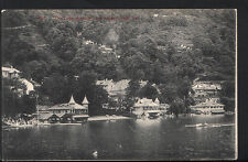 India Postcard - The Lake Showing Boat Houses, Naini Tal    U1627