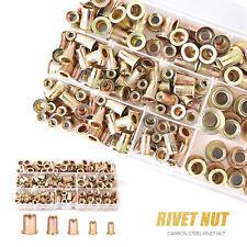 100 Pack Rivet Nut Kit Rivnut Nutsert Assort Nut Setter Thread Setting Tools Us