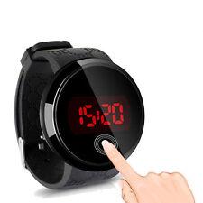 Neue Herren Touch Screen LED Sport runde Armbanduhr Silikon Wasserdichte Uhr #a