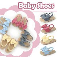 Toddler Kids Baby Girls Solid Bow Beach Shoes Sandals Prewalker Princess Flats