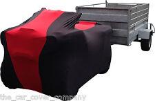 Super Soft Stretch Elasticated Indoor Motorbike/Quadbike/Trike Cover Red & Black