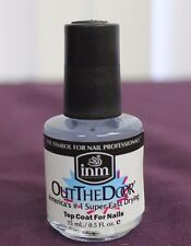 NEW INM Out The Door SUPER FAST DRYING Top Coat Clear Nail Polish 0.5 oz