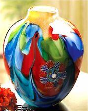 FLORAL FANTASIA ART GLASS VASE ** NIB