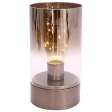 23cm Copper Base LED Lamp Table Bedside Home Glass Office Desk Modern Light