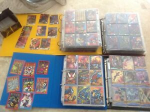 Rare Vintage marvel cards FLAIR card lots xmen spiderman signature ,movie,DC