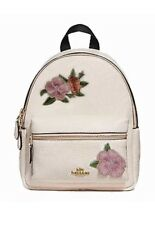 NEW AUTHENTIC Coach F28953 Mini Charlie Backpack Chalk With Floral Embroidery