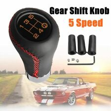 5 Speed Stitche Leather Universal Manual Car Gear Stick Shift Knob Shifter