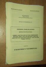 NR Western Signalling Notice: Portobello Jn and Iver plus Colnbrook Dec 2014