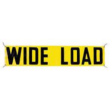 JJ KELLER 745 - Vinyl Wide Load/Oversize Load Banner w/ Grommets for Ropes 6' x