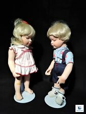 """The Hamilton Collection New Shoes Boy & Girl Dolls 15"""" Tall with COA"""