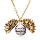 Necklace Jewelry You Are My Sunshine Boho Sunflower Pendant Locket Women Gifts