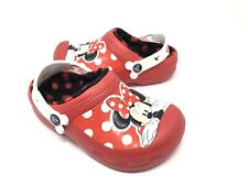 CROCS MINNIE MOUSE Lined Clogs GIRLS Size J1  NEW