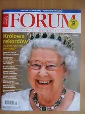 QUEEN ELISABETH II on front cover Polish Magazine FORUM 9/2017