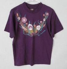St Augustine shells beach purple cotton short sleeve graphic t-shirt *Sz M*