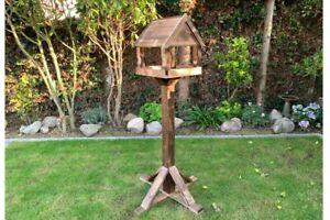 Frinton Bird Table | Garden Feeding Station Wooden Traditional Standing House