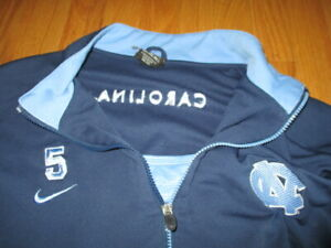 Nike GAME USED No. 5 NORTH CAROLINA TAR HEELS (Size 3XL) Warm-Up Jersey UNC