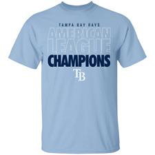 Men's American League Champions Tampa Bay Rays 2020 Baseball T-Shirt S-4XL