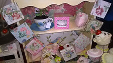 SHABBY CHIC WOODEN BUNTING MADE USING CATH KIDSTON AND VINTAGE DESIGNS GARLAND