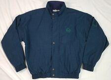 JACK NICKLAUS Mens Golf Outerwear Jacket Nylon Green Blue Plaid Vintage Medium M