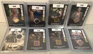 AMC THE WALKING DEAD 35 card costume wardrobe lot collection Cryptozoic Topps