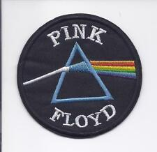 "3"" PINK FLOYD Dark Side of the Moon Iron On Embroidered Patch Prism patches"