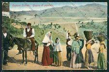 Palermo Costumi Siciliani cartolina QQ0817