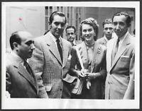Tyrone Power Linda Christian LOT 4 Original 1940s-1950s Candid Press Photos