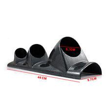 "Carbon Side Car 2"" 52mm Universal Three Hole DashBoard Gauge Pod Holder"