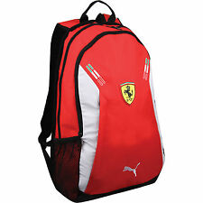 PUMA PREMIUM FERRARI SF F1 PORTABLE CANVAS SMALL BACKPACK BAG SCHOOL GYM RED
