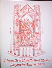 """""""I HAVE LIT A CANDLE THAT SHINES FOR YOU IN WALSINGHAM""""  -FOLDED CARD & ENVELOPE"""