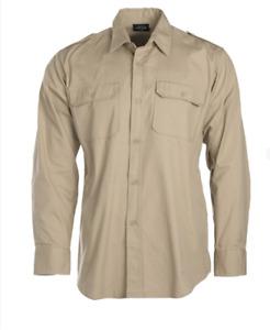 Chemise Coyote Militaire Tropicale Manches Longues Khaki Couleur Désert Taille M