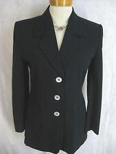 Laurel Size 34 or 6 Long Black Wool Blazer