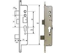 Cego Surelock Centre Lock Case Upvc Door Lock Twin Spindle