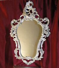 Exklusiver Wandspiegel Repro ANTIK BAROCK Spiegel Silber 50X76 Barockspiegel Neu