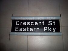 NYC SUBWAY SIGN R10 BMT 1968 CRESCENT ST NY EASTERN PARKWAY BROOKLYN ROLL SIGN