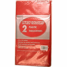 """PLASTIC TABLECOVERS TABLE COVER COVERS CLOTH CLOTHS 2 X 54"""" X 54"""" ALL COLOURS"""