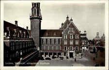 LEIDEN ältere AK Holland Leyden Huis Vismarkt Niederlande um 1950 ungelaufen