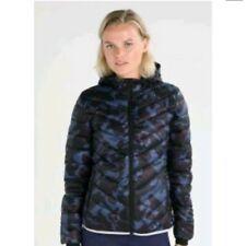 GapFit Puffer Jacket Maternity Primaloft Aerofast Hoodie Sz XS Blue Camo NWT