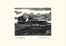 lithographie originale signée Jean Feugereux Villeau Eure-et-Loir