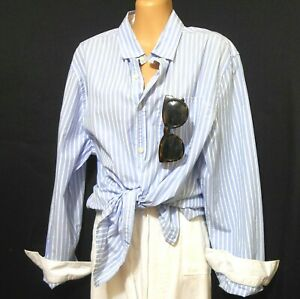 Country Road blue striped shirt, sz. 16/L, cool and dream to wear