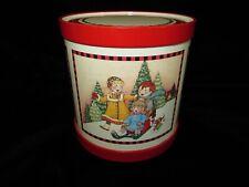 1992 Hallmark Mary Engelbreit The Wonder of Christmas-Hooray For Winter Tin Drum