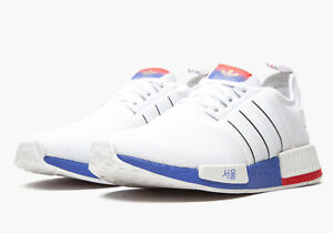Adidas NMD R1 Seoul Korea Red White Blue Boost Sneakers FY1163 Men's Size 10.5