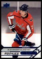 2020-21 UD Overtime Wave 2 Base Blue #102 Alexander Alexeyev - Capitals