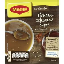 7 x MAGGI Ochsenschwanzsuppe / Oxtail Soup with fine red wine note. NEW