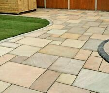 More details for indian paving raj green sandstone flags paving slabs patio packs 22mm calibrated
