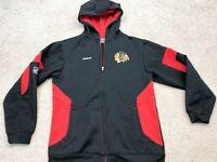Chicago Blackhawks NHL Reebok Long Sleeve Sweatshirt Men's Size Large Black