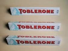 White Toblerone Swiss Chocolate 3 large bars of 360 g each with nougat NEW