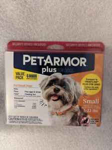 BrandNew Sealed Pet Armor Plus Small Dogs 5-22 lbs Flea & Tick 6 month treatment